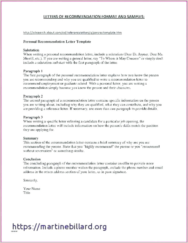 Basic Re mendation Letter Template And New Business