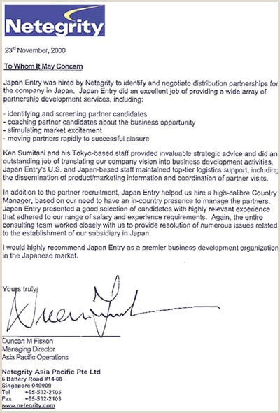 Business Reference Letter Template Word Japanese Letter Example