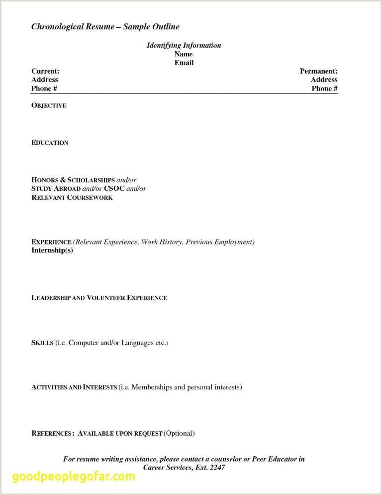 Call Center Resume format for Freshers Inspirational Best Resume Model for Freshers Resume Design