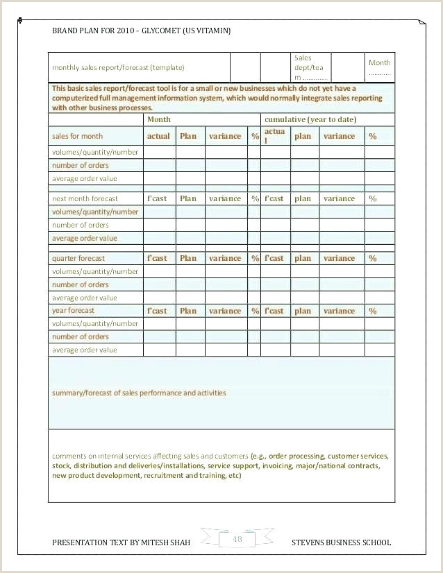 Elegant Sales Forecast Template Projection Free Download