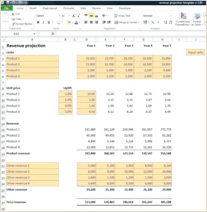 Sales Projection Template Free Download Without Synonym