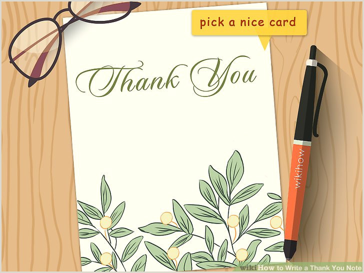 Card Of Thanks for Newspaper after Funeral How to Write A Thank You Note 9 Steps with Wikihow