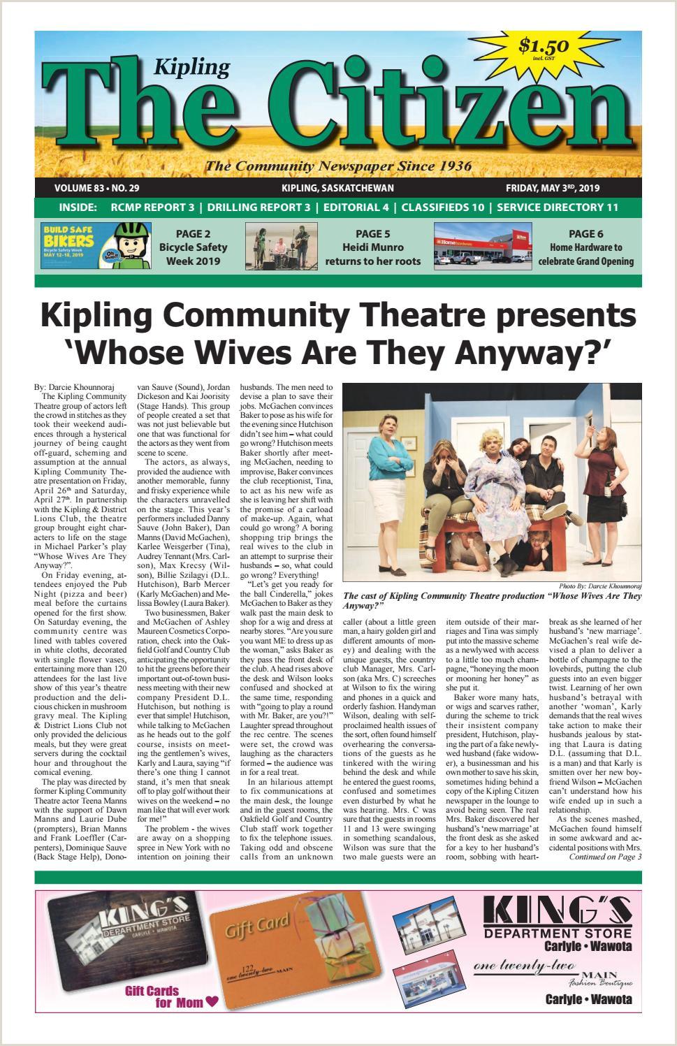 Kipling Citizen May 3 2019 by Kipling Citizen issuu