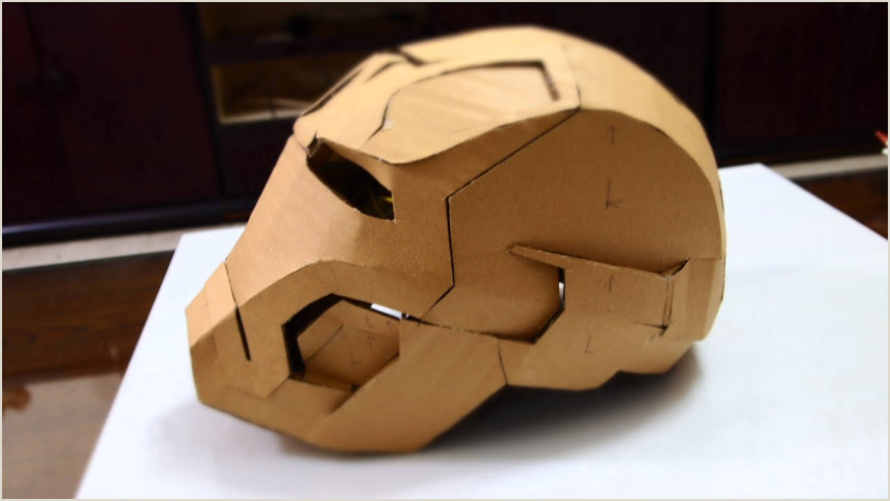 Cardboard Mask Template Free 28 Iron Man Mark 42 Helmet Part 2 Jaw top Back & Ears