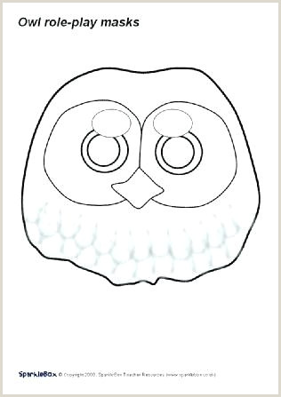 Cardboard Animal Mask Templates Owl Template Felt Pattern