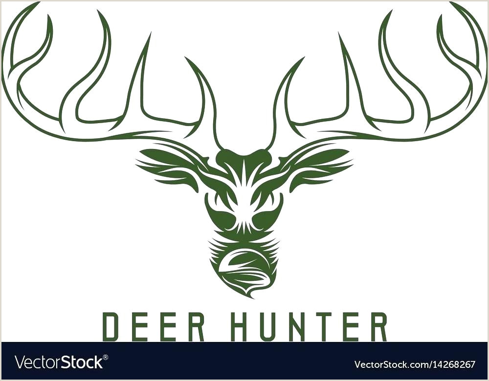 Free Deer Head Template Design Vector Image Animal 3d