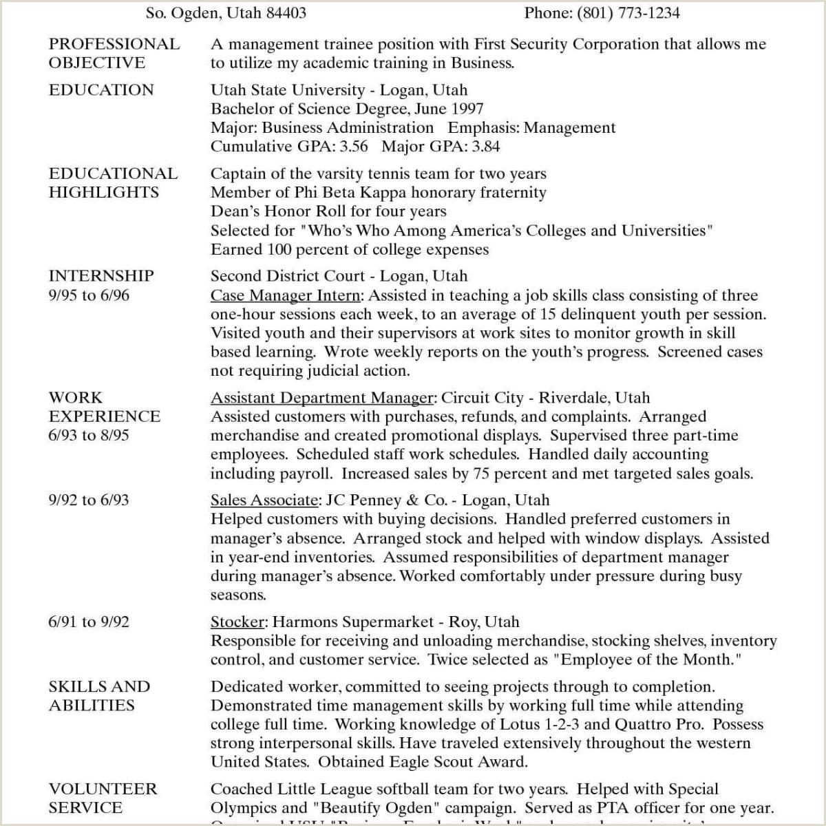Career Goal Statement Sample 11 12 Cover Letter Career Goals Example