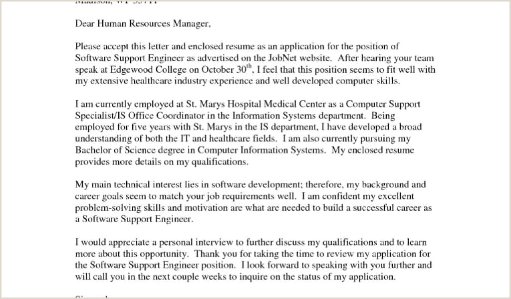 Examples Great Cover Letters for Jobs New formal Cover