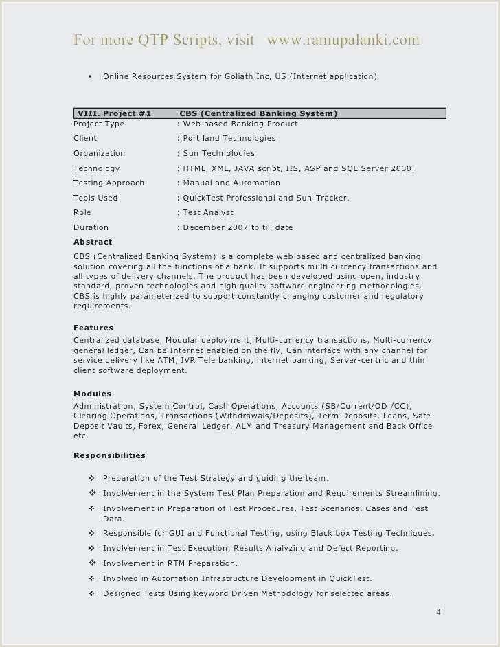 Resume Objective for software Engineer Sample Vba Developer