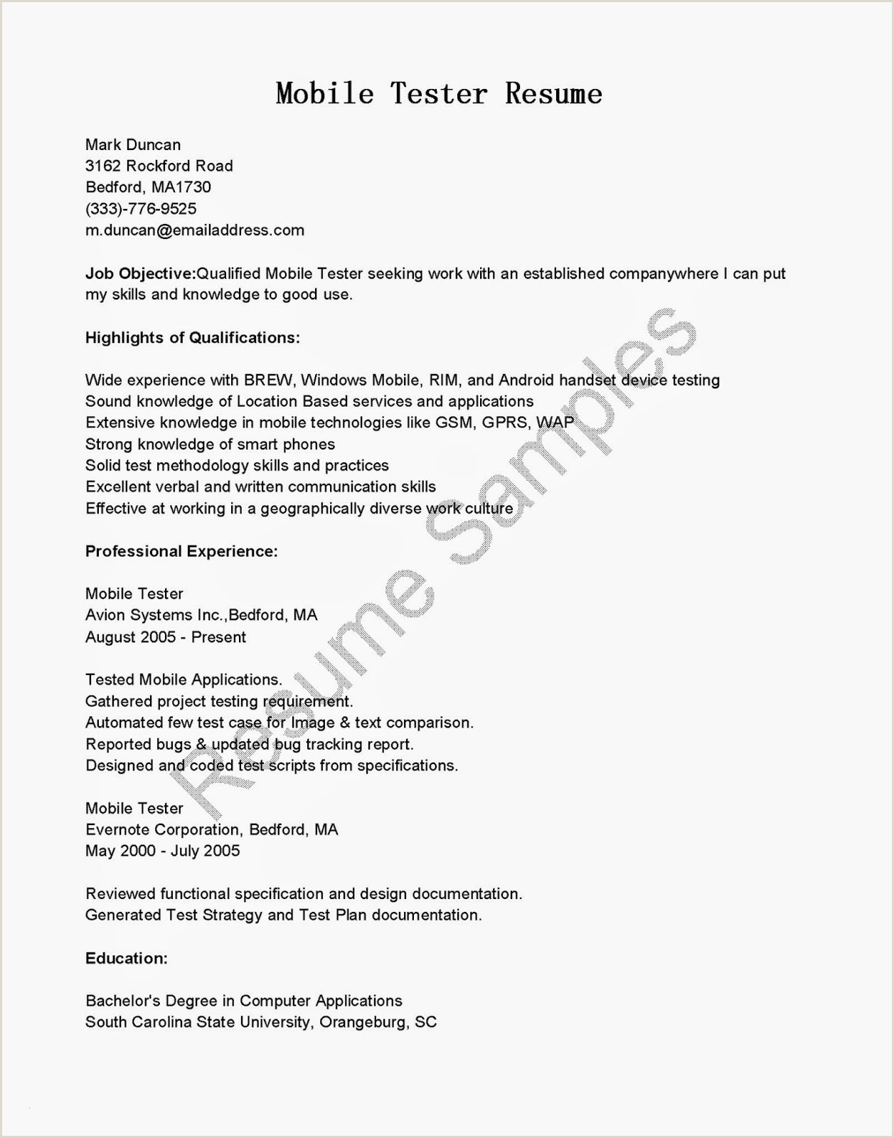 Beautiful Resume Objective for software Engineer – 50ger