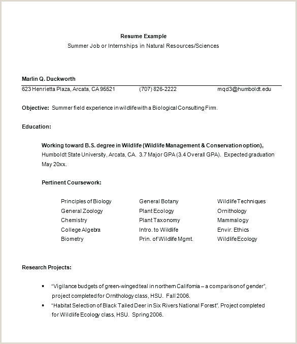 internship resume objective – emelcotest