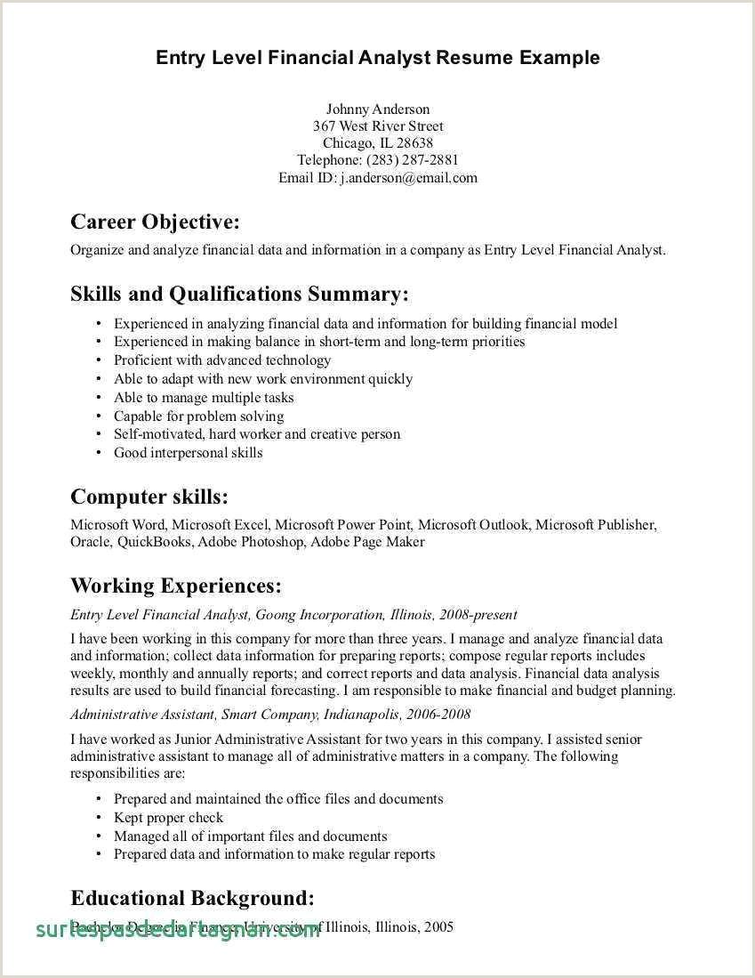 Resume for Finance Analyst Best 21 Free Financial Analyst