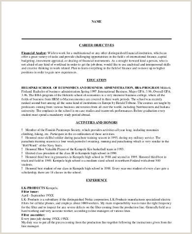 Sample Resume Career Objective 8 Examples in Word PDF