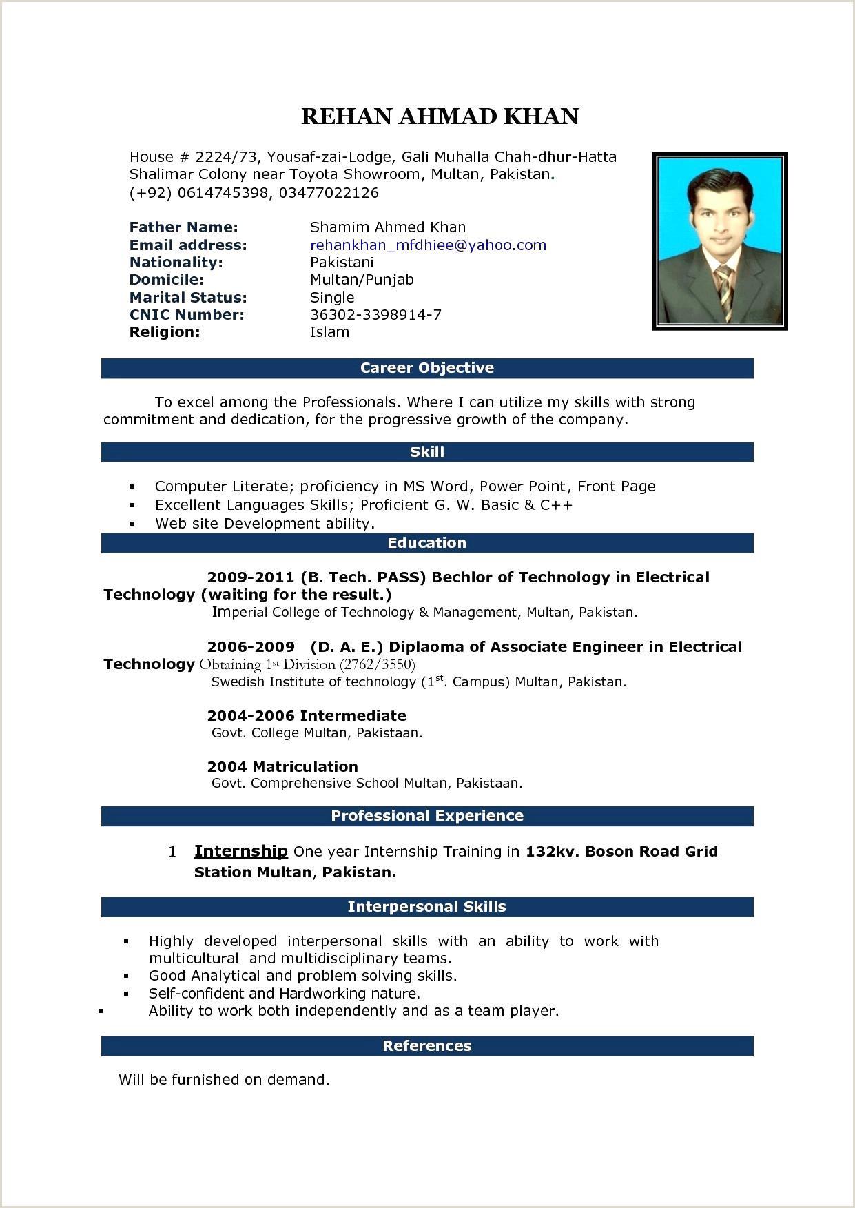 Fresh Web Design Resume