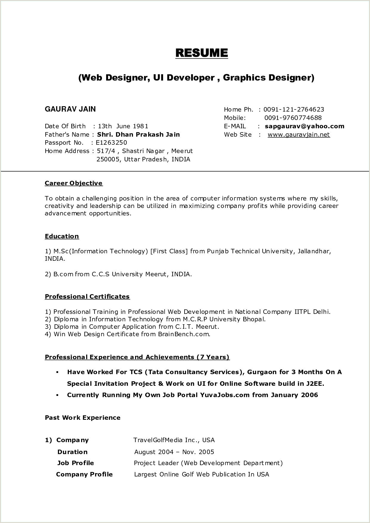 Career Objective for Web Developer Webdesigner Resume Sample Sample Web Designer Cv Template