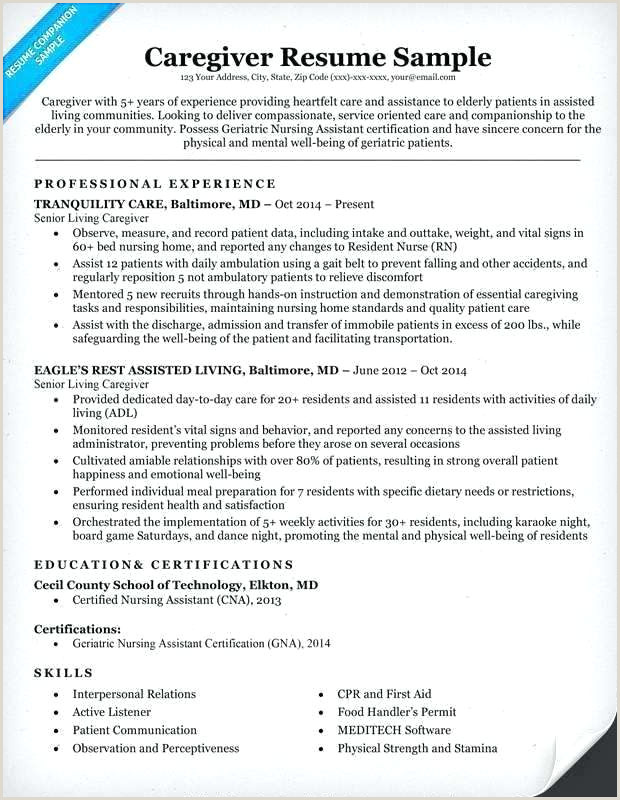 Caregiver Resume Skills Sample Resume Caregiver – Emelcotest