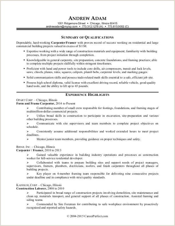 63 foreman Resume Sample