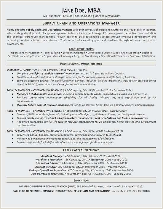 Ministry Resume Templates Examples 25 New Supervisor Resume