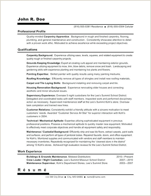 Carpenter Resume Template Australia Carpenter Apprentice Cover Letter – Frankiechannel