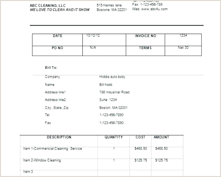Car Wash Invoice Template Best Window Cleaning Strand Coding