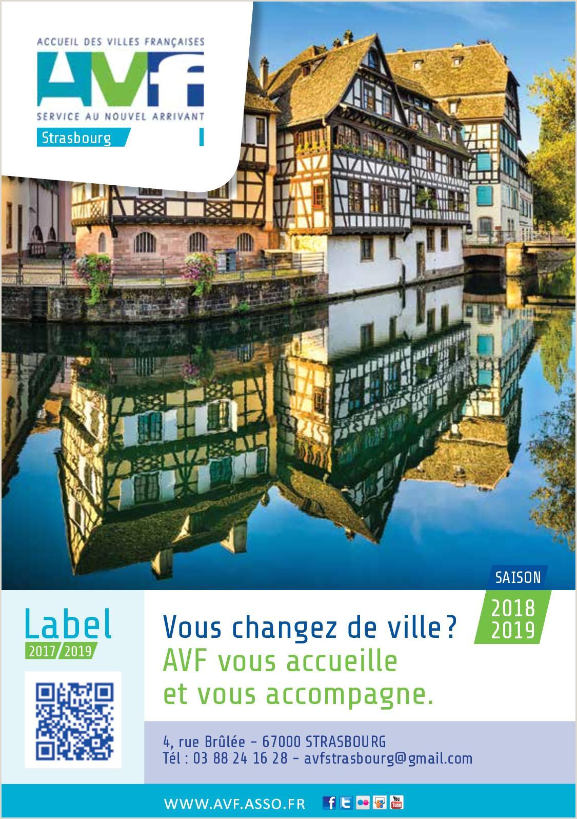 Calaméo Guide pratique AVF Bienvenue  Strasbourg 2018 2019