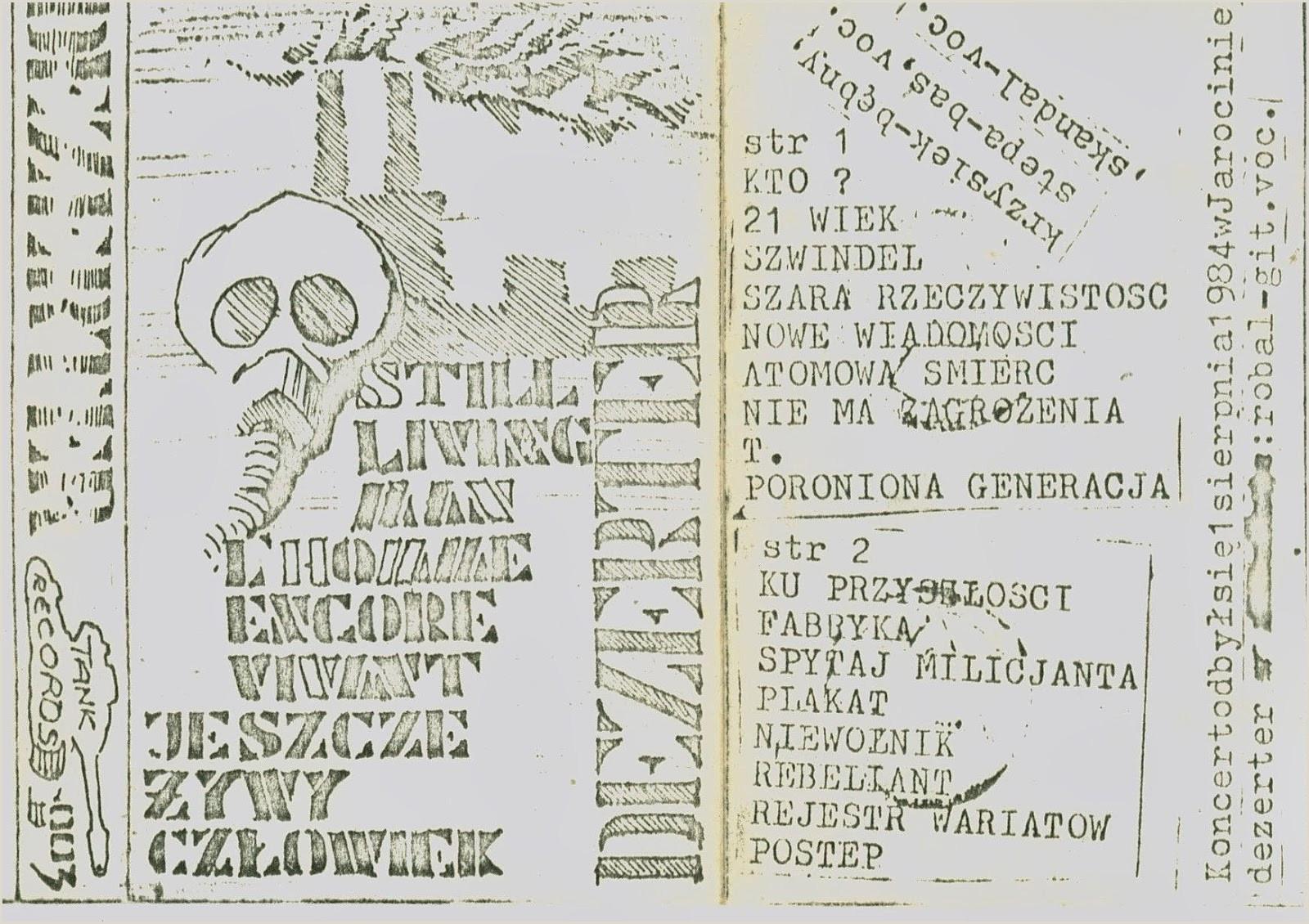 Caspers Company Pay Stub Dezerter – Jeszcze Å Ywy Człowiek [live Tank Records 1984