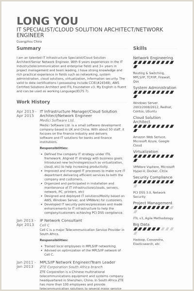 Inspirational Cloud Consultant Resume
