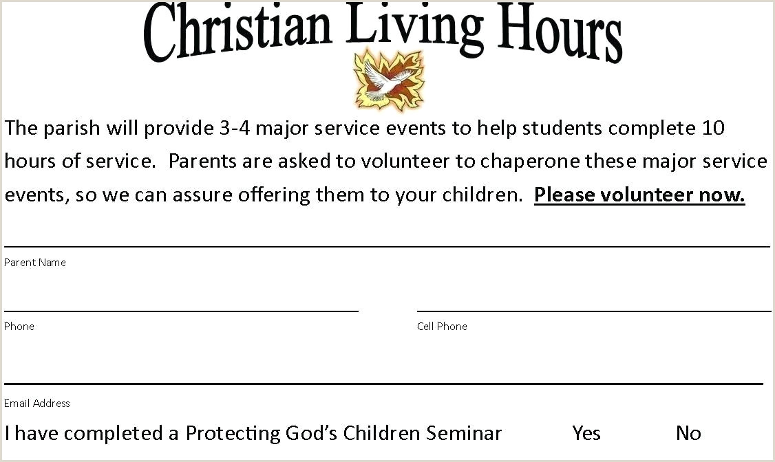 Catholic Confirmation Letter Sample Volunteer Confirmation Letter Sample Confirming Hours