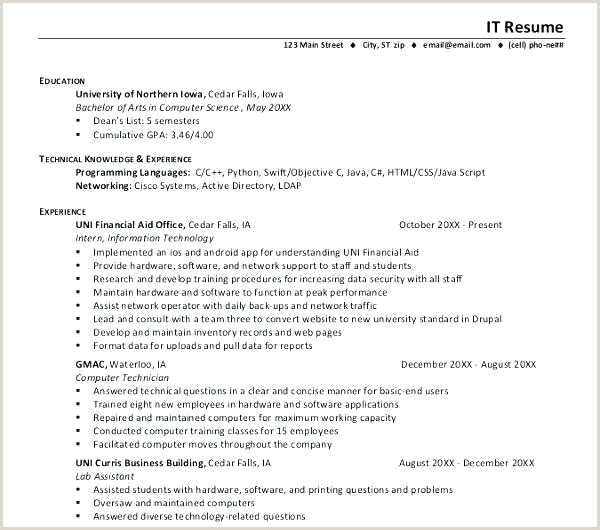 Ccna Fresher Resume format Free Download It Resume Template Download It Resume format for Freshers