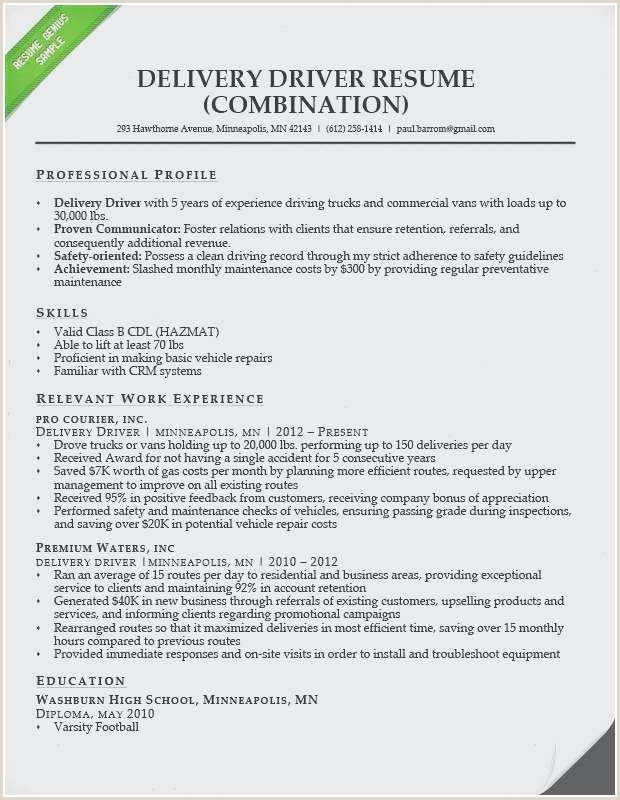 Cdl Driver Resume Unique Mercial Driver Resume