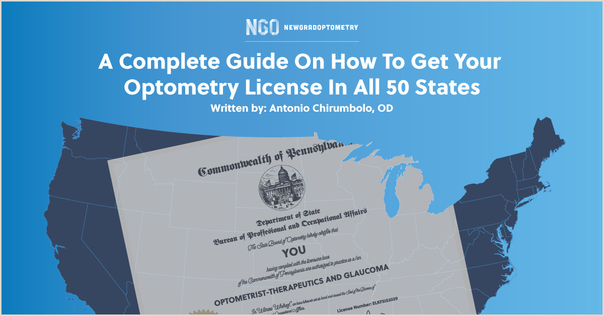 A plete Guide How To Get Your Optometry License In All