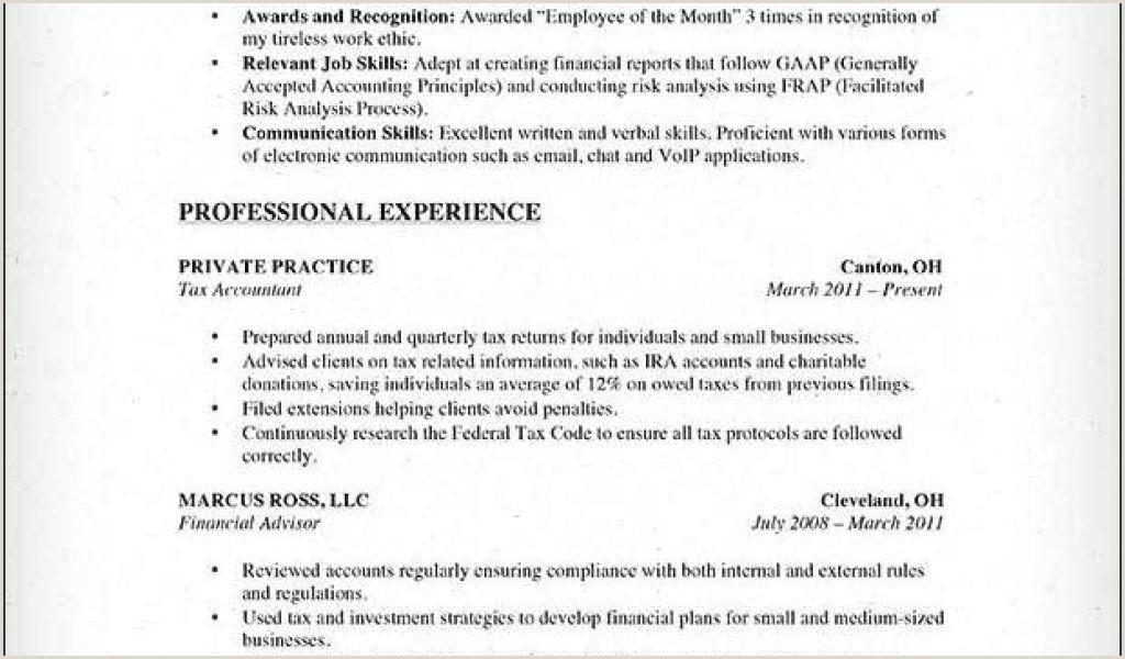 Example Resume format Free 16 Inspirational Resume format