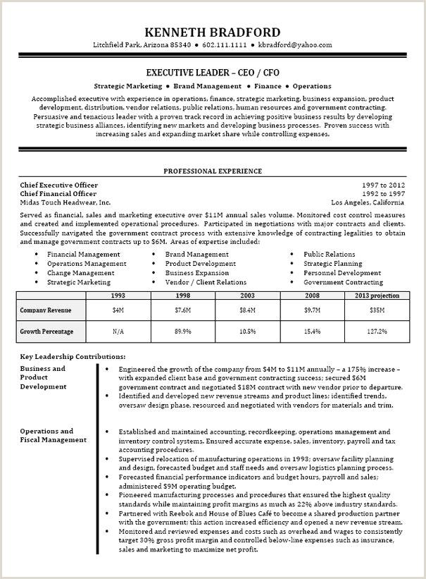 Cfo Resume Template Unique Cfo Resume Templates Resume Design