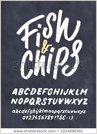 Fish Chips Chalkboard Menu Template Stock Vector Royalty