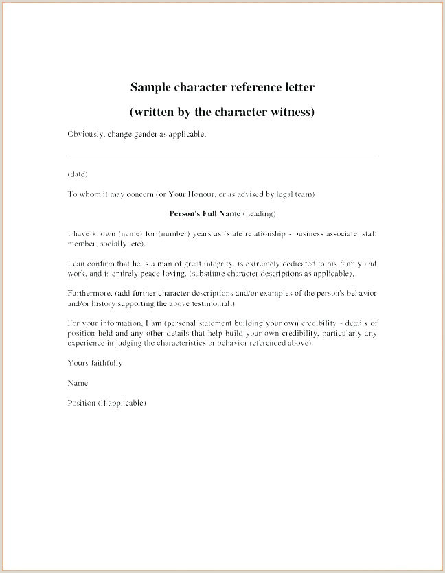 Good Character Reference Letter For Court Sentencing Letter
