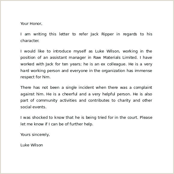 Free Reference Letter Character Examples For A Friend