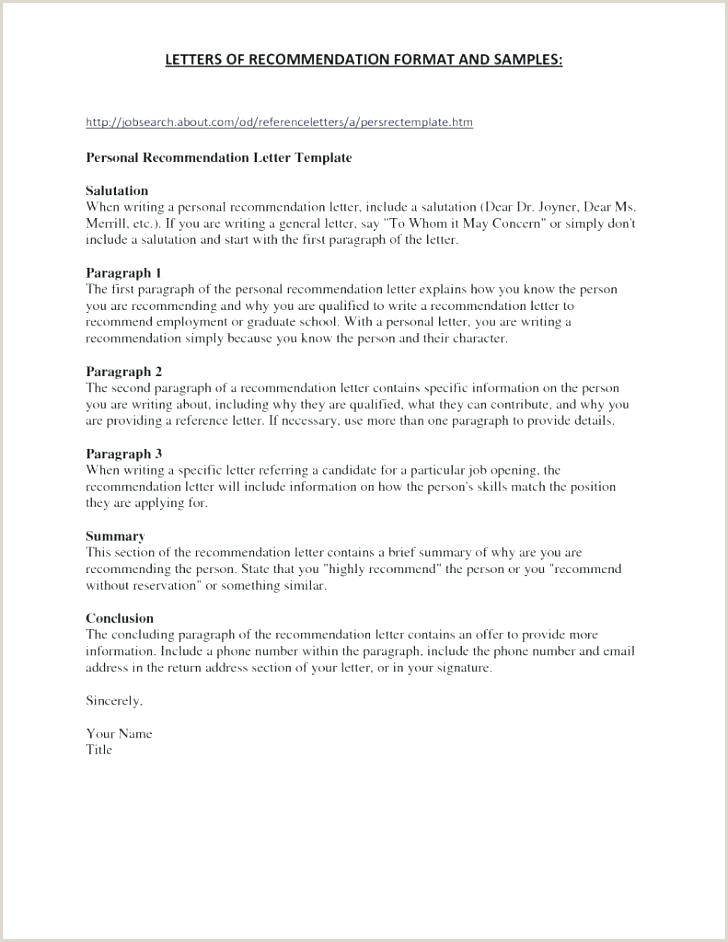 Reference Letters Templates Sample Letter Template Character