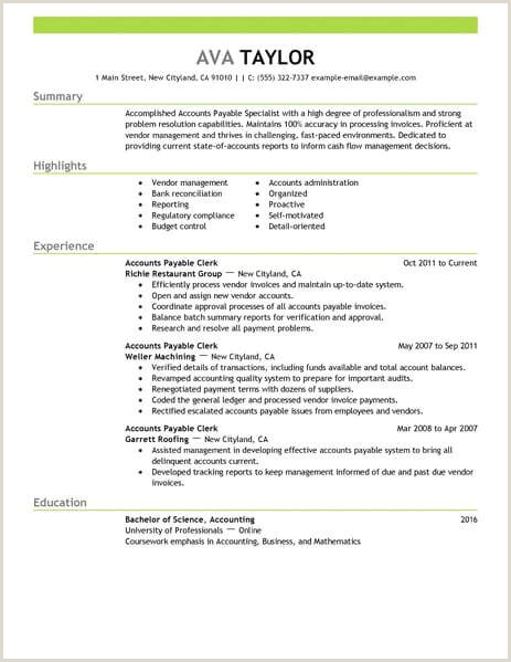 Chartered Accountant Resume Doc Best Accounts Payable Specialist Resume Example