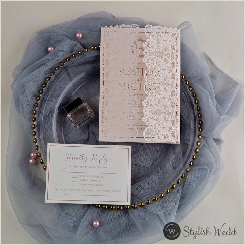 Elegant and Beautiful Pink Wedding Invitations