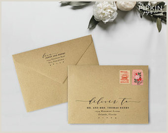 Printable Envelope Address Template Calligraphy Address