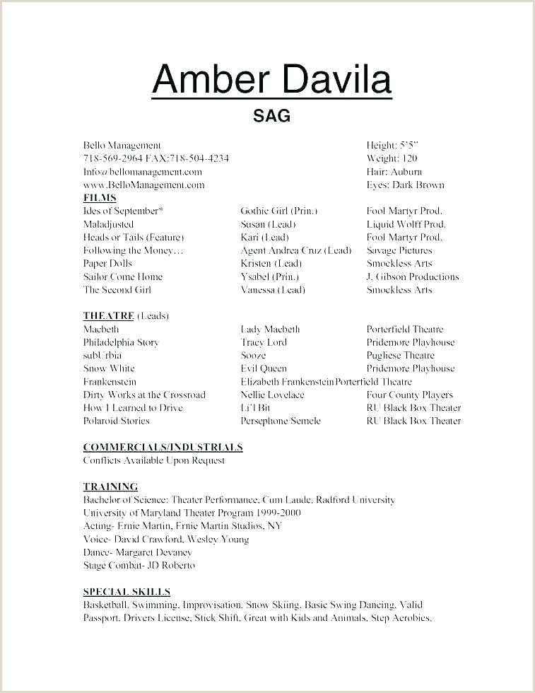 Acting Resume Template Unique Kids New Child Actors From