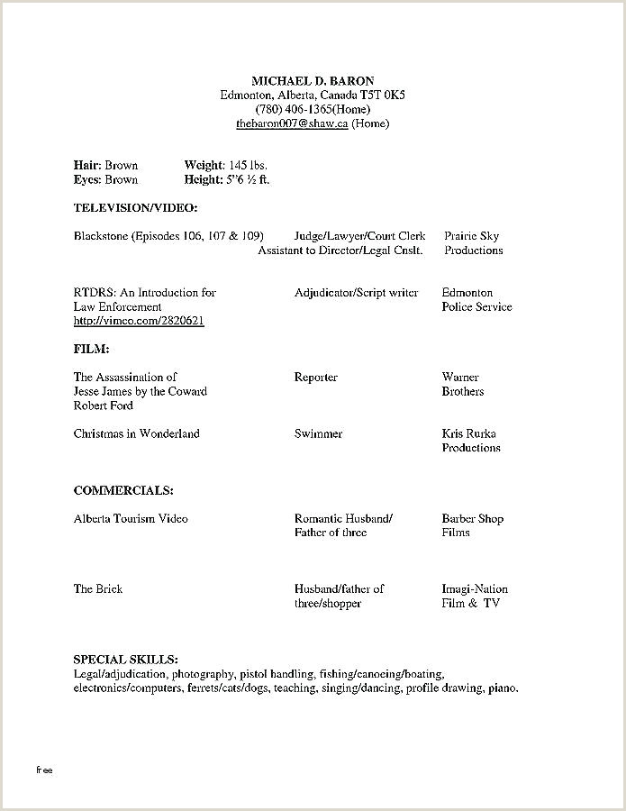Child Acting Resumes Resume Template for Actors – Gotostudyfo