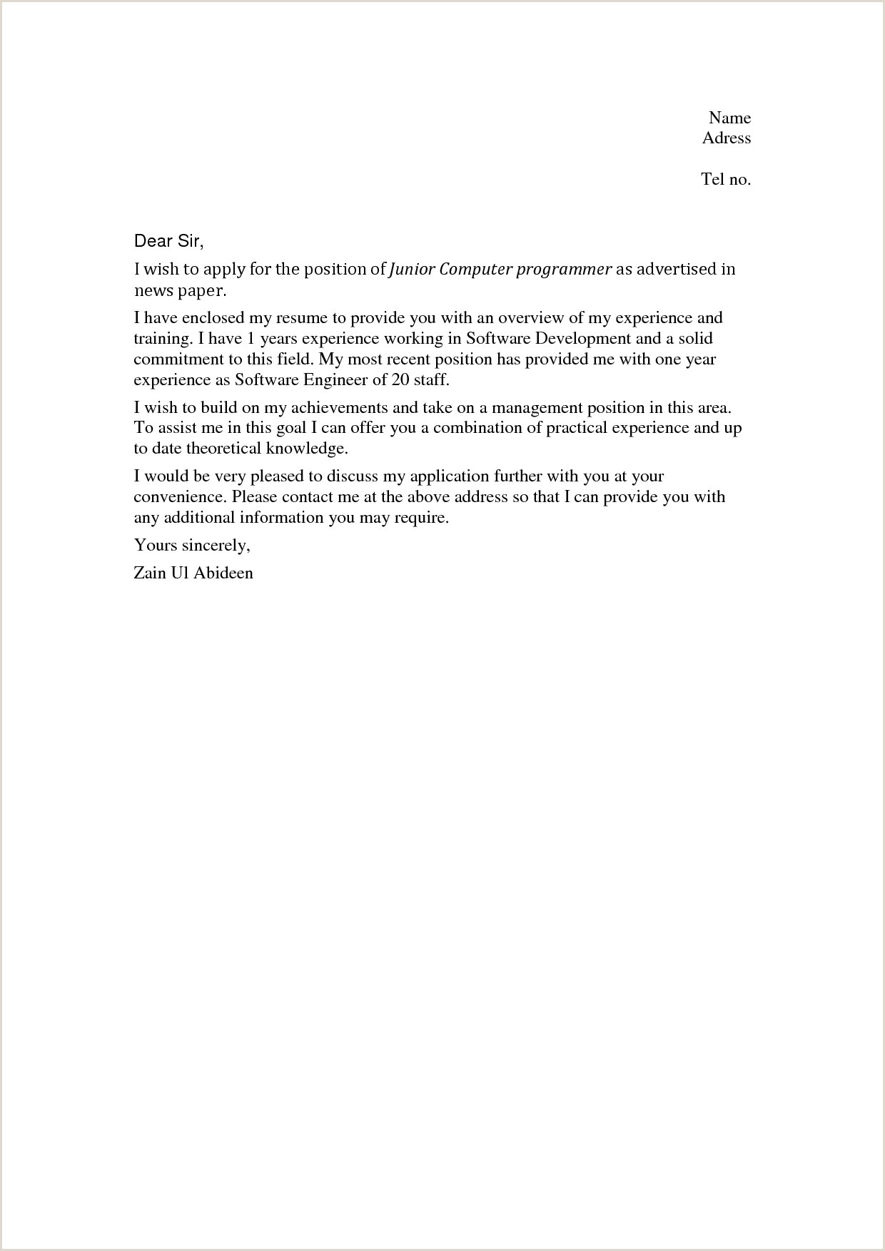 Cover Letter Health Care assistant No Experience Unique