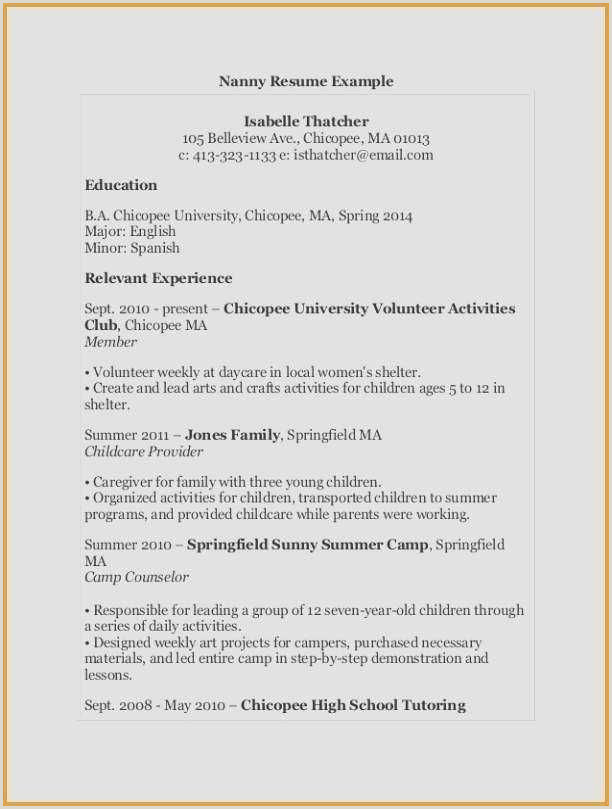 Child Care assistant Resume Pinterest