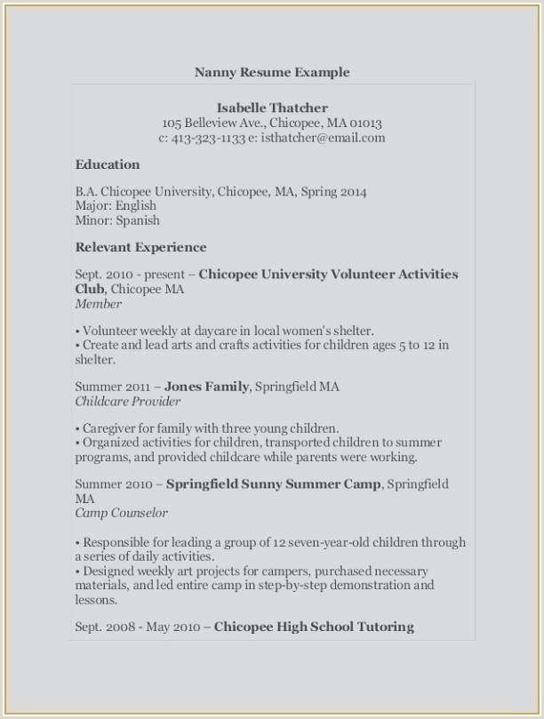 Inspirational Day Care Provider Resume Examples – 50ger