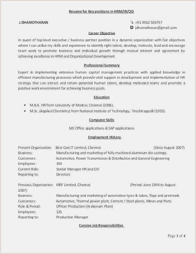 Free Download 58 Child Care Resume Model