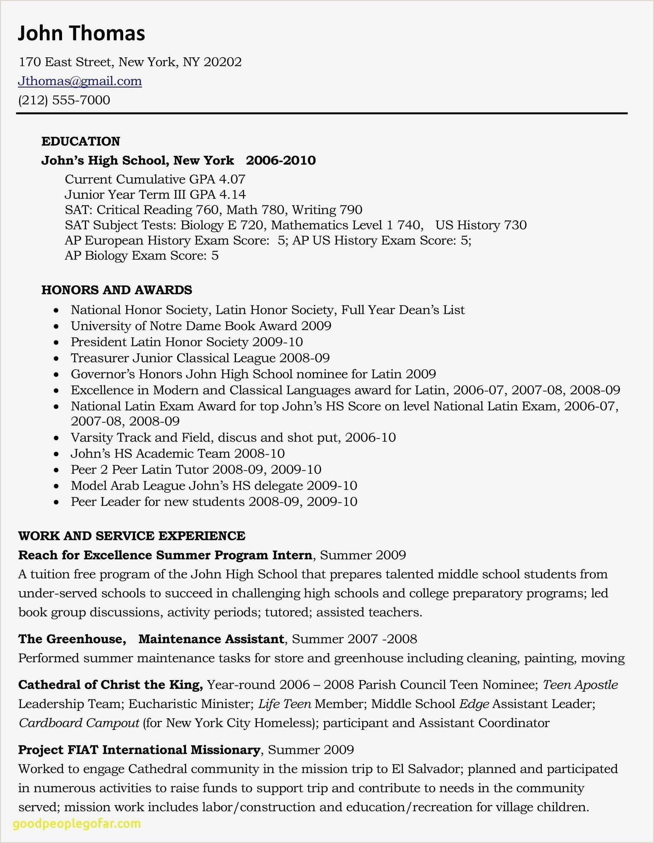 Child Care Responsibilities for Resume Modele De Cv Batiment Gratuit Agréable Fresh Blank Resume