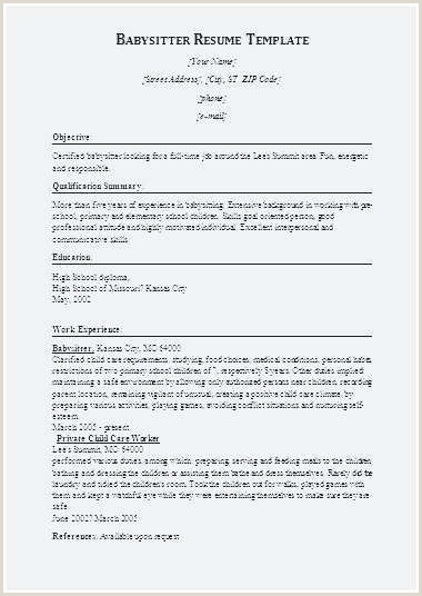 Child Care Resumes Examples Child Care Resume Sample Best Child Care Resume Template