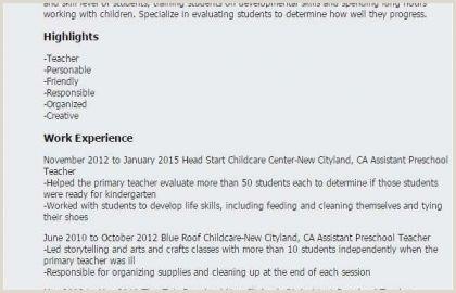 Child Care Resumes Examples Kindergarten Readiness assessment Fresh Fresh Resume