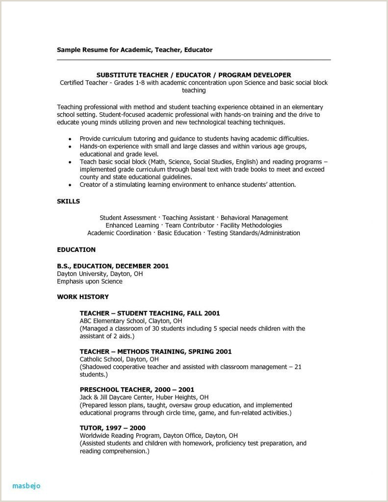 Child Care Resumes Samples Examples Daycare Resume Examples